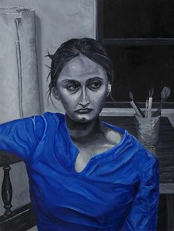 portratit of prtintmaker Elda Ruth Hernandez