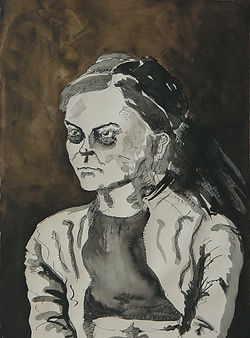 Evelin Ink on paper 76 x 112 cm 2002 eduardo lara drawing