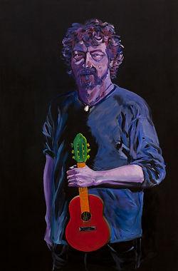 eduardo, lara, painting, musicians, artist, george pacurar, songwriter