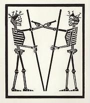engraving, eduardo, lara, danse macabre, dance of death, artist, pritnmaking, grabado, end, nothing