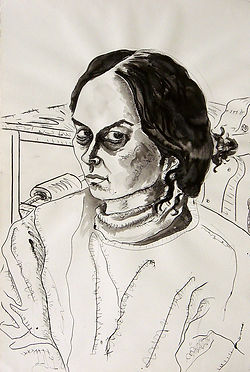 Susana Ink on paper 112 x 76 cm 2002 eduardo lara drawing