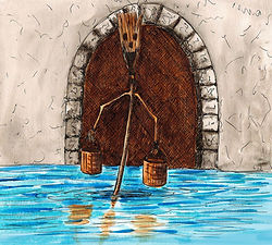 The enchanted broom Gouache on paper 2013 eduardo lara illustration