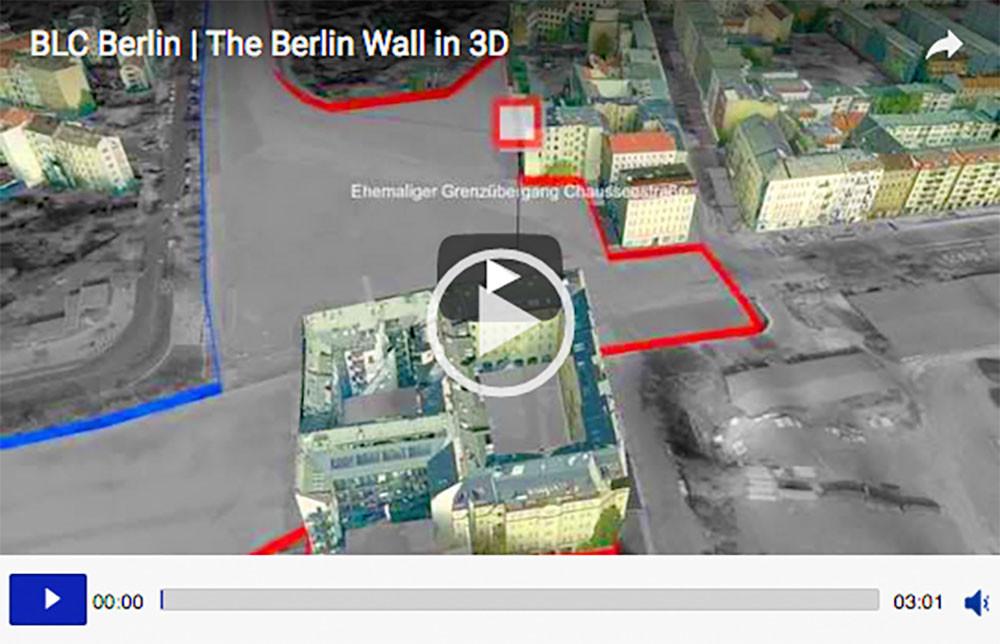 Quelle: Screenshot Video www.berlin.de/mauer/verlauf/mauerverlauf-video und www.businesslocationcenter.de/3d