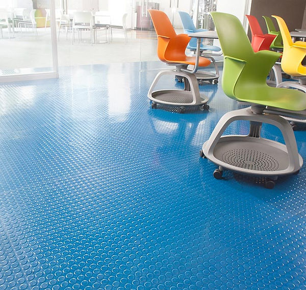 Commercial Rubber tile flooring installations