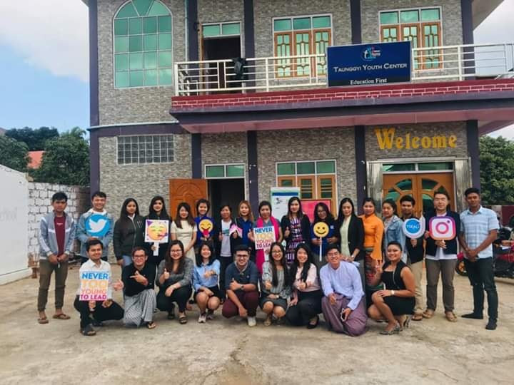 Group Photo at the front of Taunggyi Youth Center