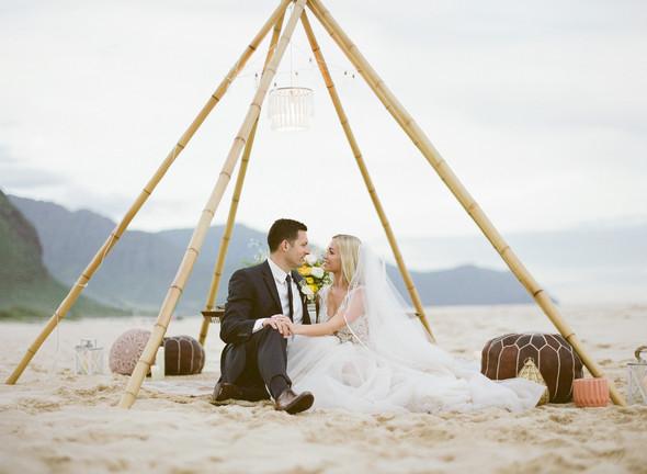 Boho Chic Hawaii Beach Inspirational Wed