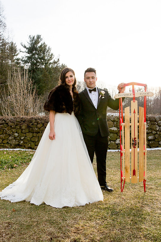 Layers of Luxe Weddings Magazine, Hill-Stead Museum Winter Wedding