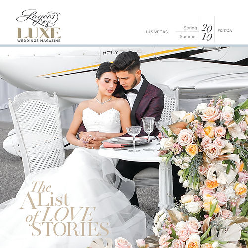 Layers of LUXE Weddings Magazine Spring