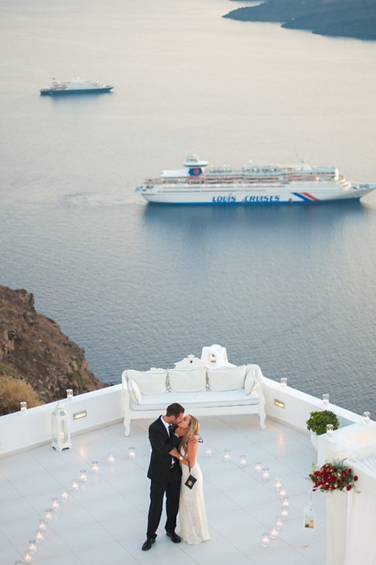 Layers of Luxe Weddings Magazine, A Surprise Wedding Proposal in Santorini, Greece