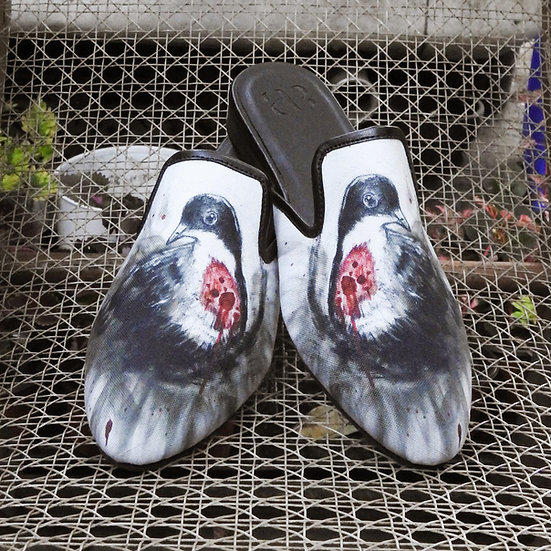 Bleeding Heart Bird Mules