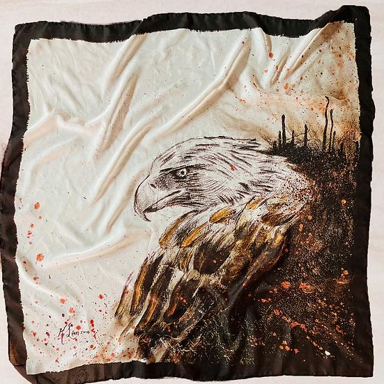 Eagle Satin Chiffon Scarf