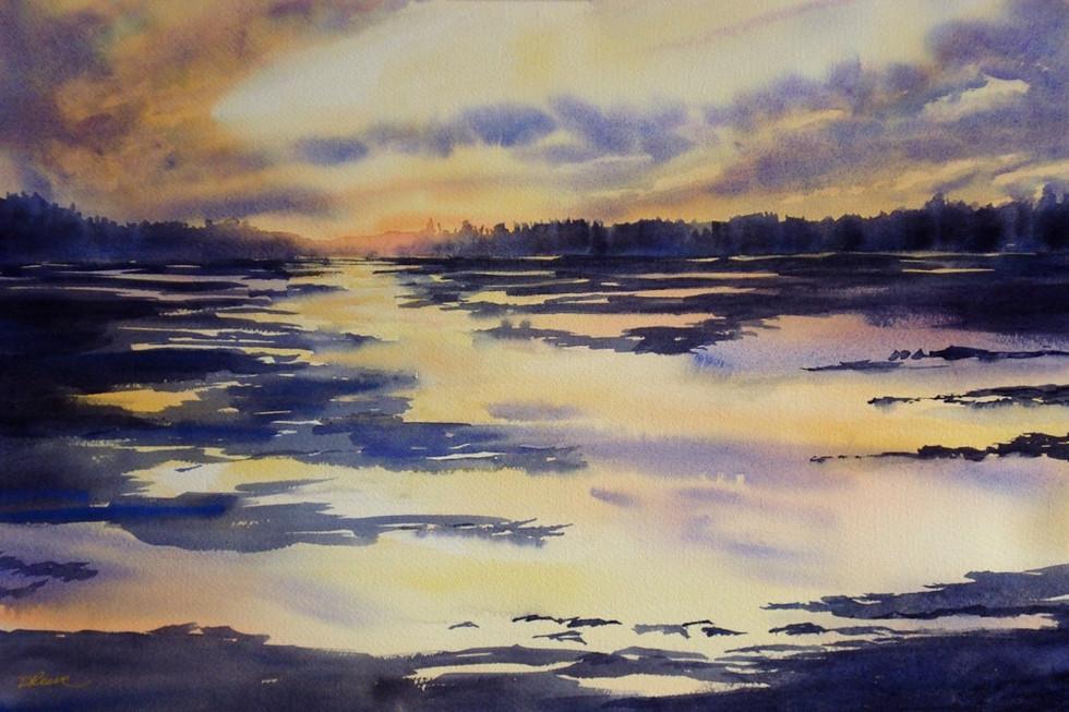 """Ocean Sunset 15"""" x 20"""""""