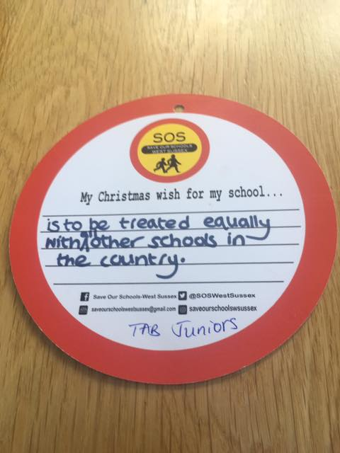 To be treated equally with other schools in the country.