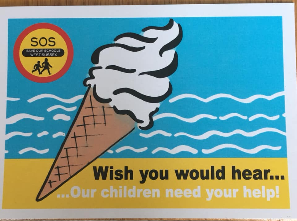 The message on the postcard was clear: Wish you would hear... Our children need your help.