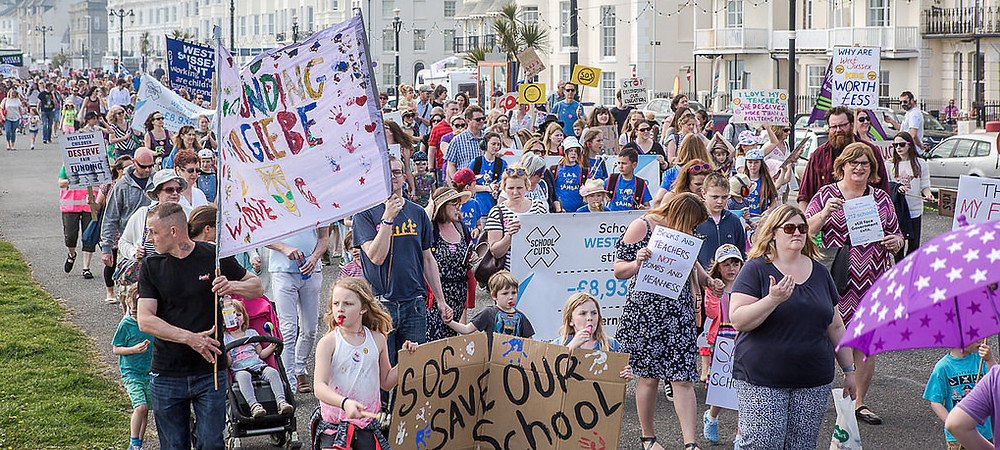 Save Our Schools march on Worthing seafront