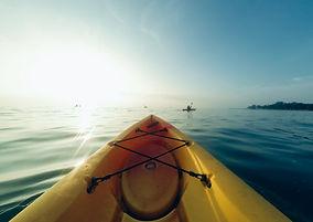 Kajakpaddling på Sunrise