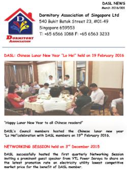 DASL News - March 2016