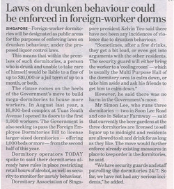 DASL News - March 2016  Foreign-workers Channel NewsAsia  News articles sample for News  Law on Drun