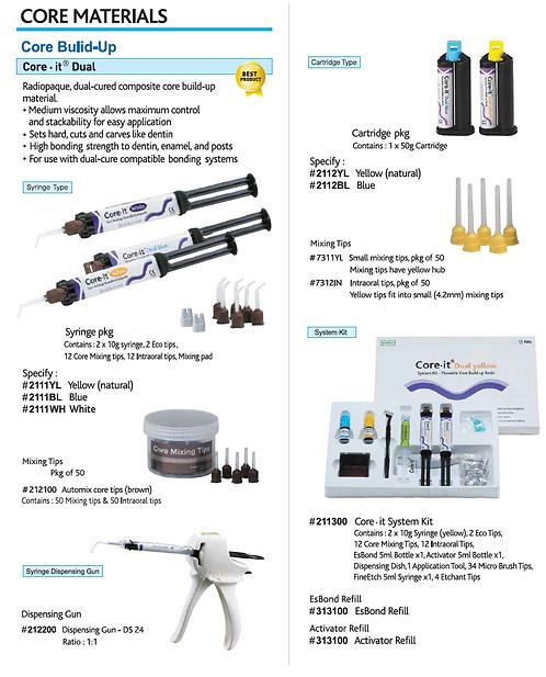 Spident Core Materials