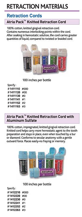 Spident Retraction Materials