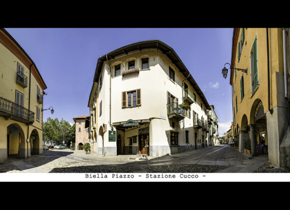 Stampa  Biella  Piazzo Stazione Cucco  cm.