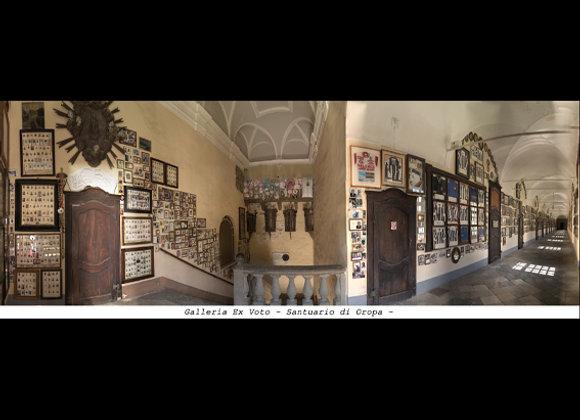 Galleria ex Voto Santuario di Oropa - Biella  cm.24 x 9