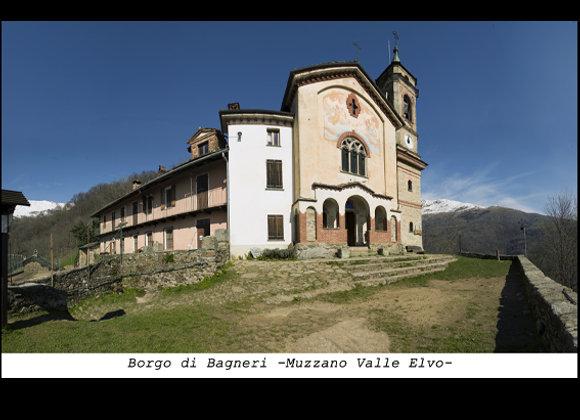Stampa Borgo di bagneri - Muzzano Valle Elevo  cm. 50 x 32