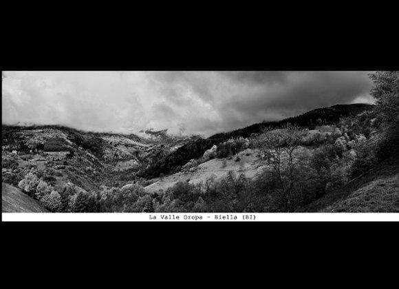 La valle Oropa - Biella  cm. 24 x 9