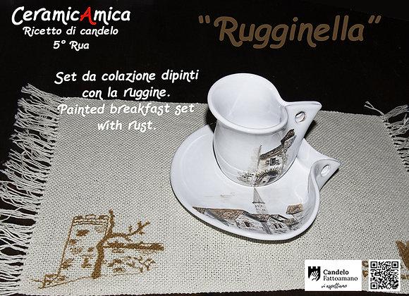 """set Tovaglia e Tazza """"Rugginella"""""""