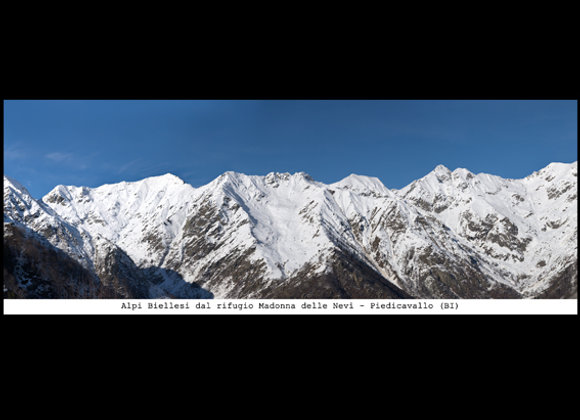 """Stampa  Alpi Biellesi dal Rifugio """"Madonna delle Nevi - Piedicavallo"""