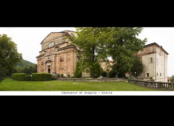Santuario di Graglia - Biella  cm. 23 x 9