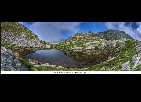 Stampa Lago del Rosso  cm.