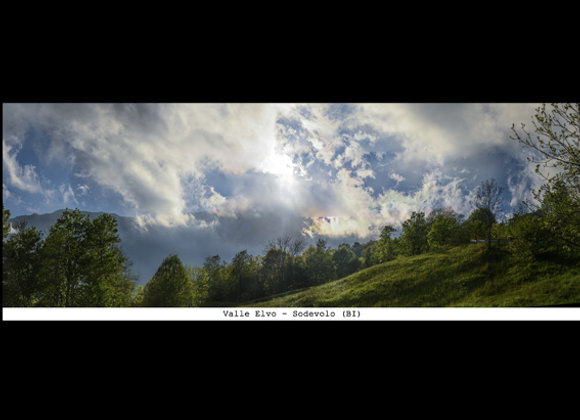 Stampa Valle Elvo - Nuvole - Sordevolo  cm.