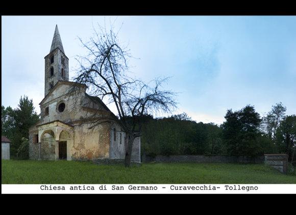 Chiesa antica di San  Germano - Curavecchia Tollegno cm. 15 x 9