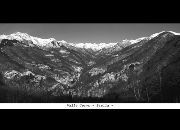 Stampa Valle Cervo da Oriomosso - Biella (BI) cm. 34,7 x 17,9
