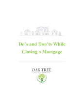 Do's and Don't of Closing a Mortgage