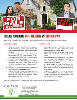Selling with an agent vs. on your own