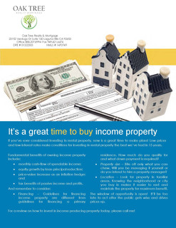 Time to buy income property