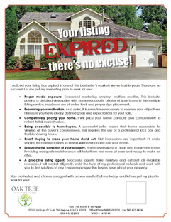 Your listing expired - there's no excuse