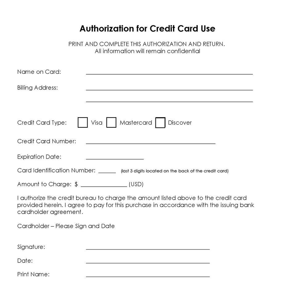 Generic Credit Card Authorization