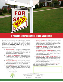 8 reasons to hire an agent to sell
