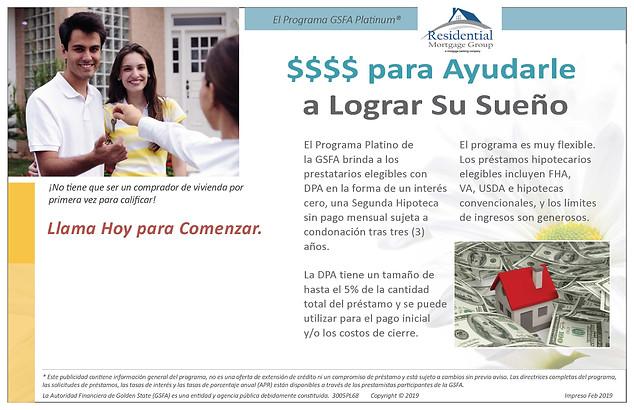 3005PL68 - GSFA-Platinum-HB-Postcard-Spa