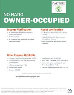 Owner Occupied No Ratio