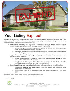 Your listing expired
