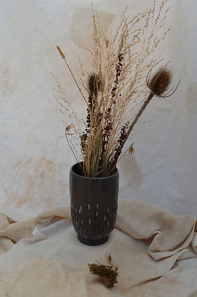 Smooth Black Vase with Lustre