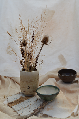 Speckle Vase with Brown
