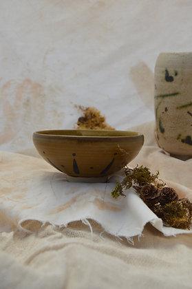 Brown Semi-matte Pattern Bowl