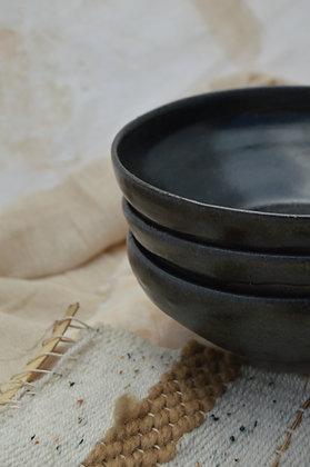 Black Semi-matte Pasta Bowl