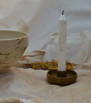 Brown Semi-Matte Candle holder