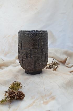 Coarse Black Vase